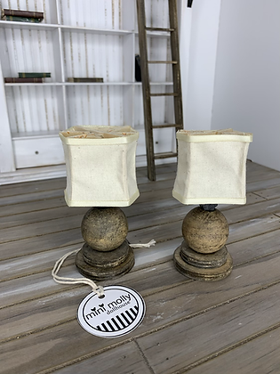 Pair of Table lamps - Wooden