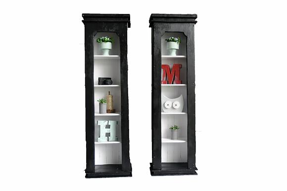 Tall Black Shelves