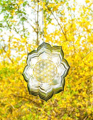 Windspiel Blume des Lebens Lotus Mobile