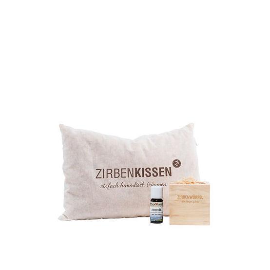 Zirben-Set (Zirbenkissen + Zirbenwürfel)