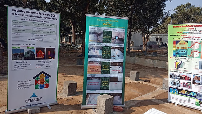 Poters for ICF, roof insulation andwall isulation presented at IIT Roorkee India