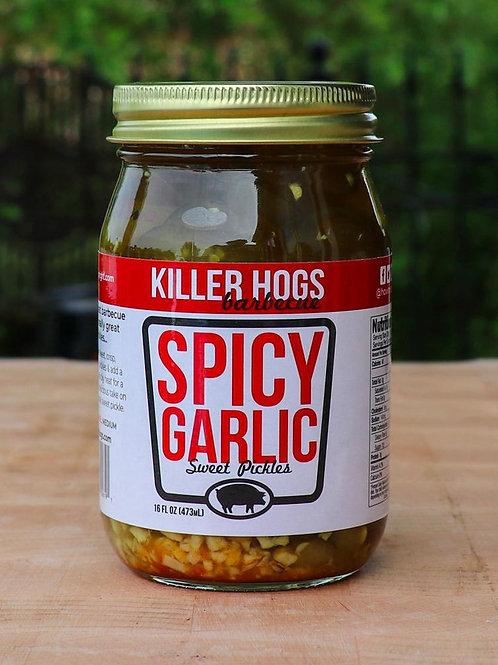 KILLER HOGS SPICY GARLIC SWEET PICKLES