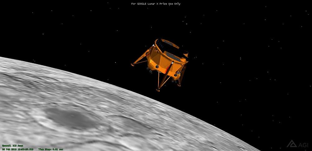 חללית בראשית מעל הירח
