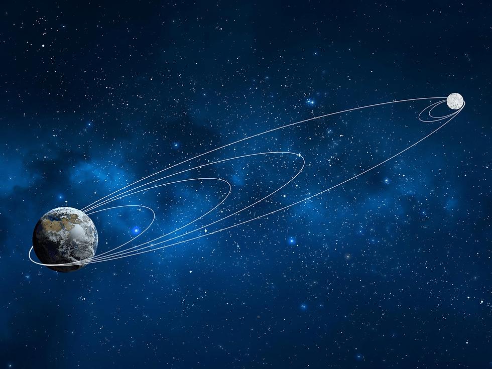 הקפת הירח וביצוע הניסוי המדעי