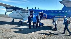 Charter flight, Jurassic Lake to Comodoro Rivadavia