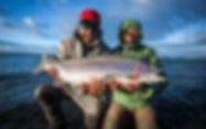 Trucha arcoiris del Lago Strobel en Jurassic Lake