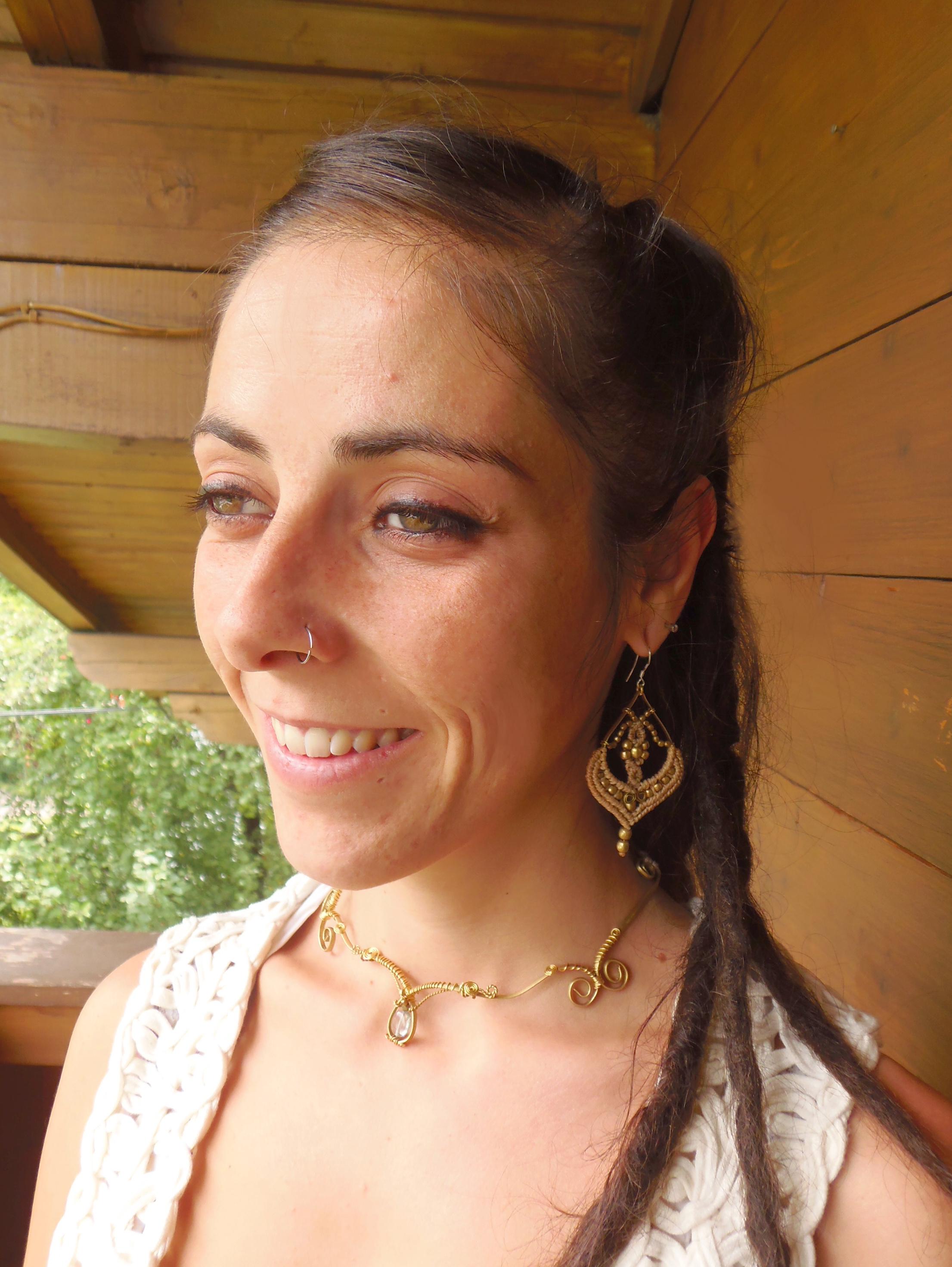 Wire Necklace & Earrings