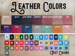Leather Colors & Text 2019 Stock Photo