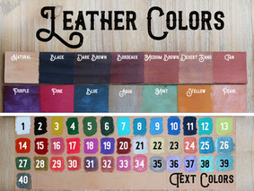 Leather Colors & Text 2019 Stock Photo.j