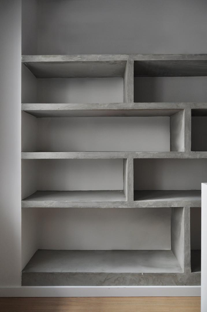 Cement finish shelf