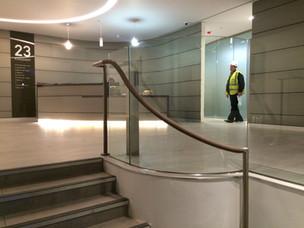 (65) Curved glass balustrade