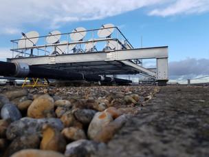 (20) BBC satellite dish support frame