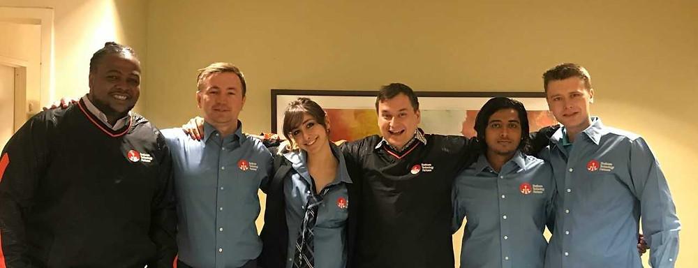 Our team in their BTP shirts