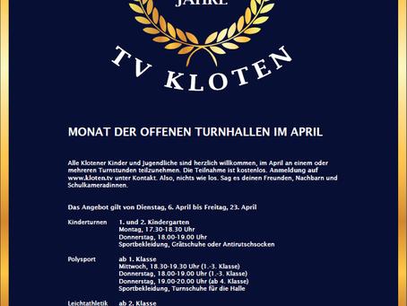 125 Jahre TV Kloten - Monat der offenen Turnhallen