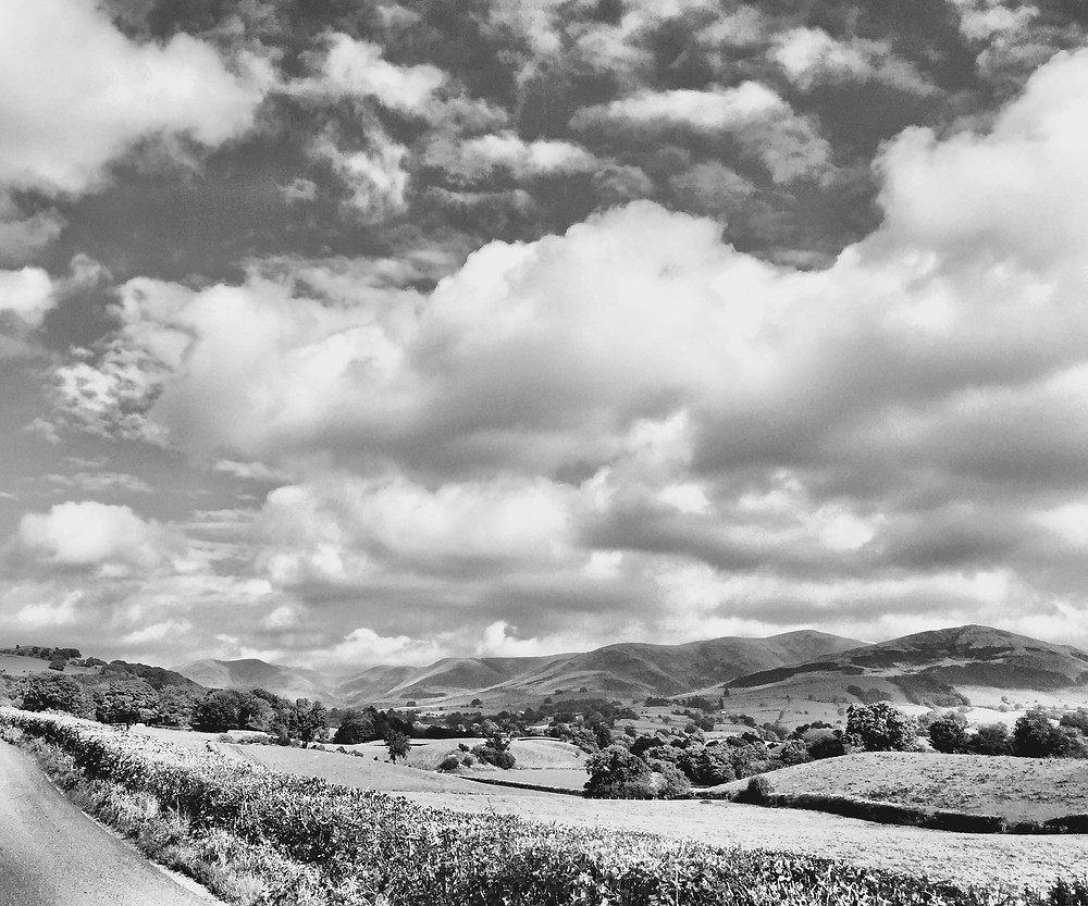 The rolling Howgill Fells from just South and West of Sedbergh