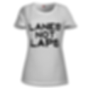 lanes-not-laps-women's-tee-front.png
