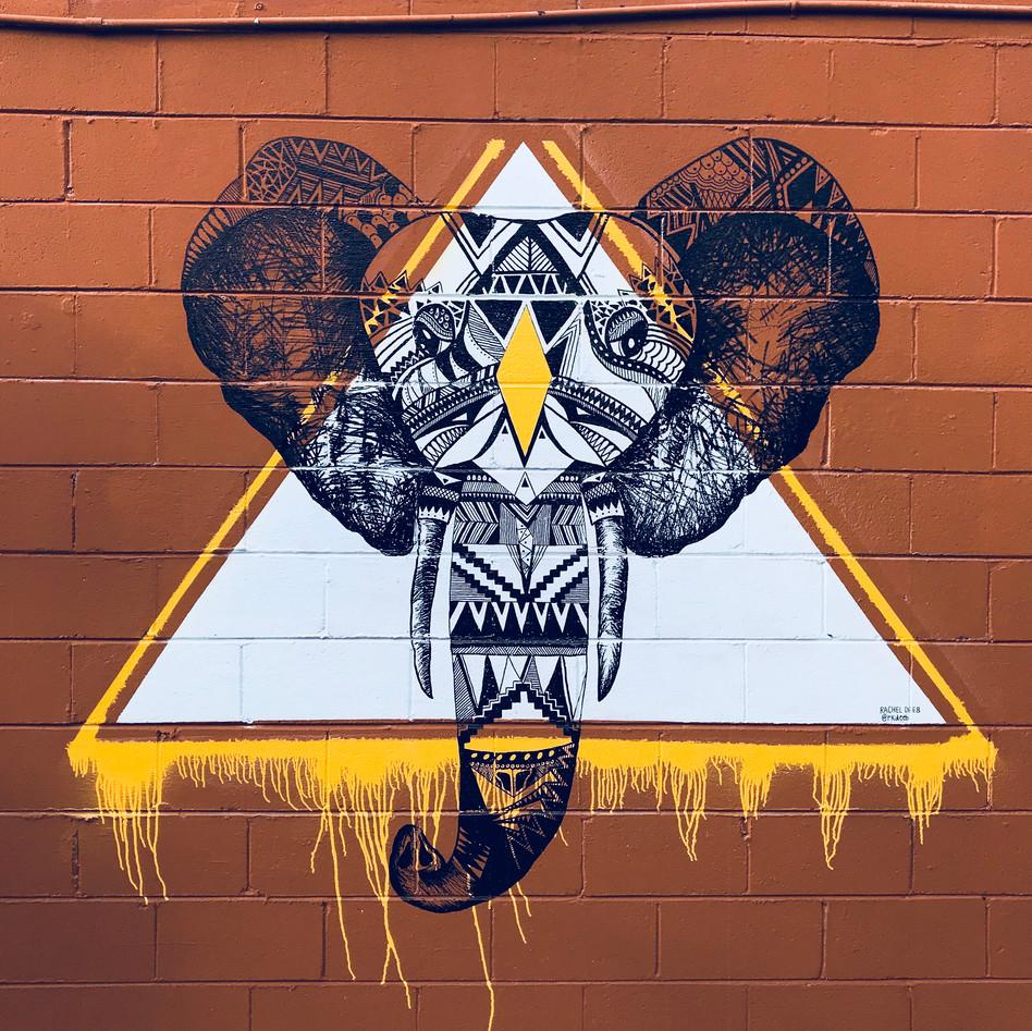 Elephant Mural   RKDEEB