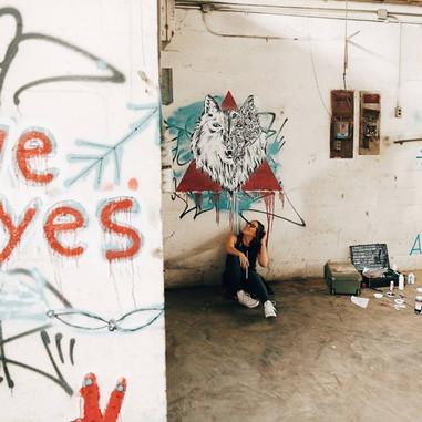 Free Style Wolf Graffiti Art