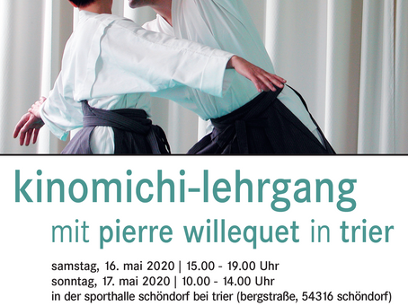 Admirez le flyer pour le stage de Trier en 2020!