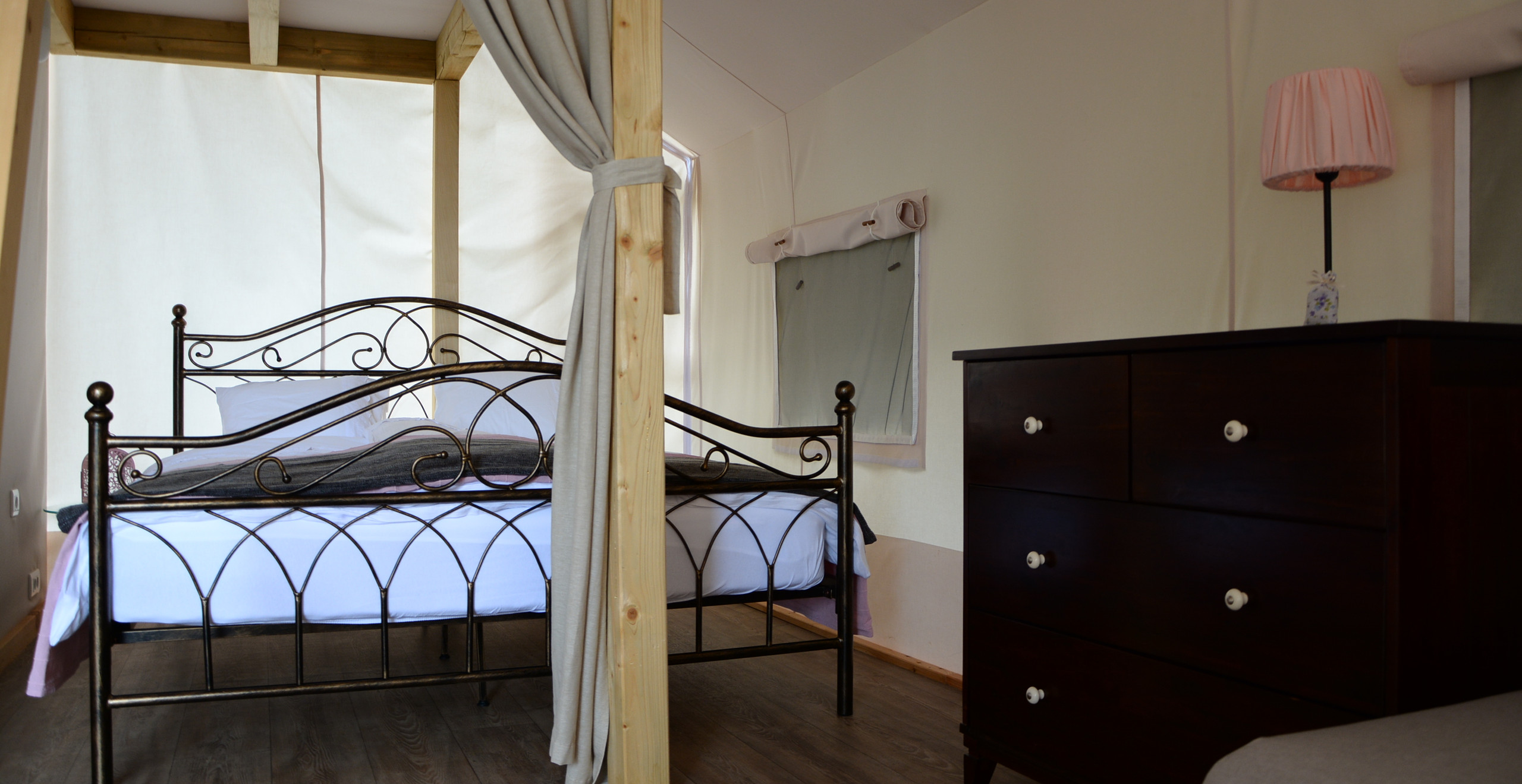 Glamping tent in Slovenia contryside