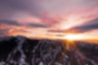 Beautiful sunset in Colorado as the sun