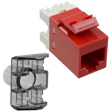Jack Modular Rojo AMP Cat 6 T568A/T568B, unshielded 1375055-7
