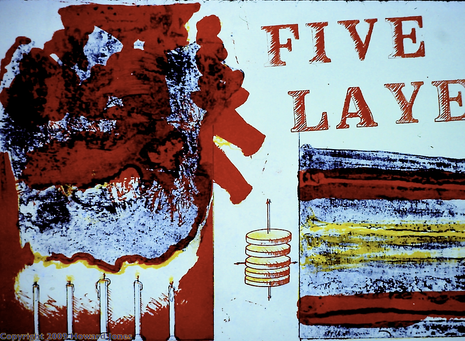 Five Layer Birthday Cake