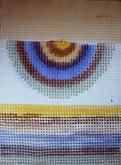 Digital Bunting, 1980, Acrylic on Embossed Rag Paper