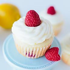 Raspberry Cupcakes with Lemon Icing