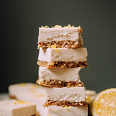 Lemon Bars with Oat + Almond Crust