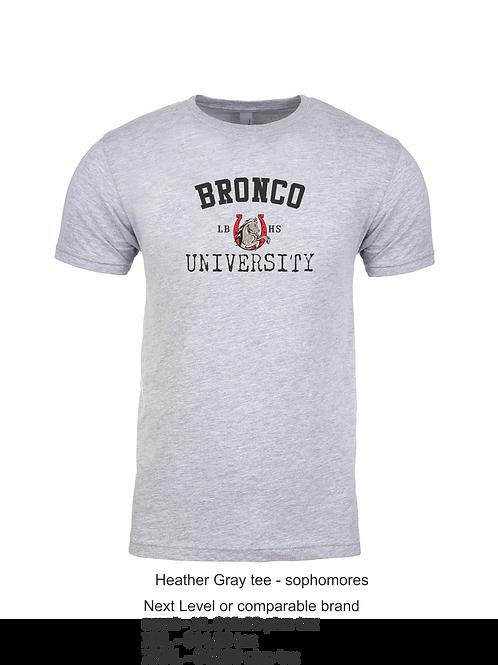 Sophomore Bronco University Tee