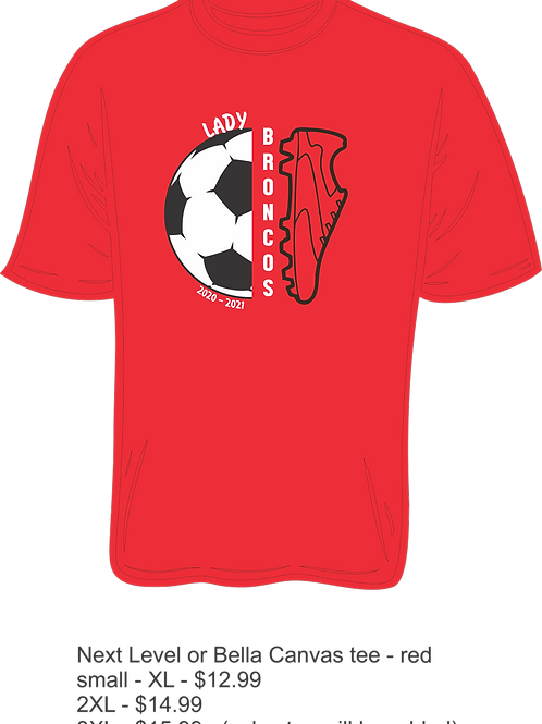 Red Short Sleeve Lake Belton HS Soccer