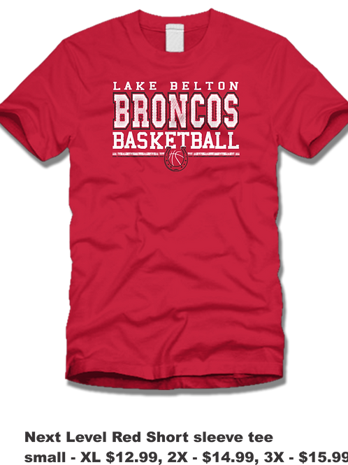 Short Sleeve LB Basketball (RED)