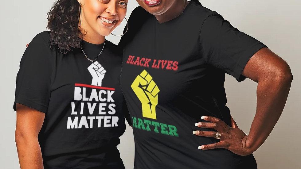 BLACK LIVES MATTER WITH FIST T-SHIRT