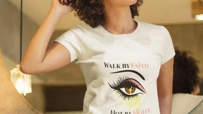 WALK BY FAITH NOT BY SIGHT T-SHIRT