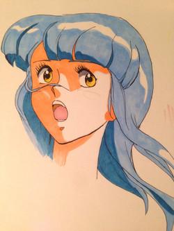 Manga Girl (COPIC marker)