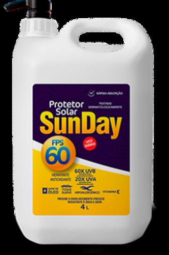 Protetor Solar Sunday FPS 60 - 4l