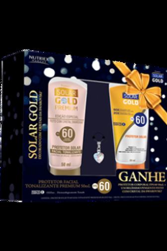 Solar Gold Facial Tonalizante   FPS 30 com Cristal Swarovski - Grátis Protetor T