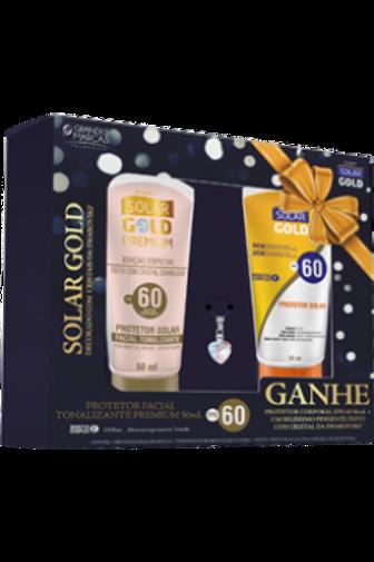 Solar Gold Facial Tonalizante FPS 60 com Cristal Swarovski - Grátis Protetor Cor