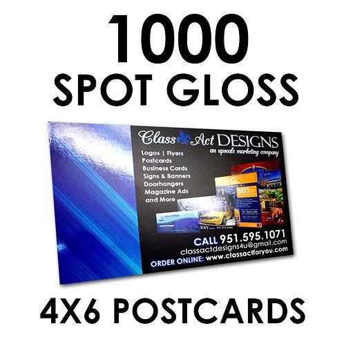"""1000 SPOT GLOSS 4X6"""" Postcards"""