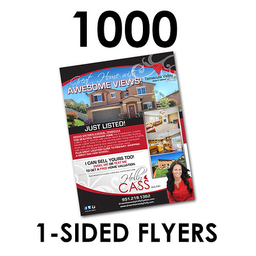 """1000 1-Sided 8.5x11"""" Flyers"""