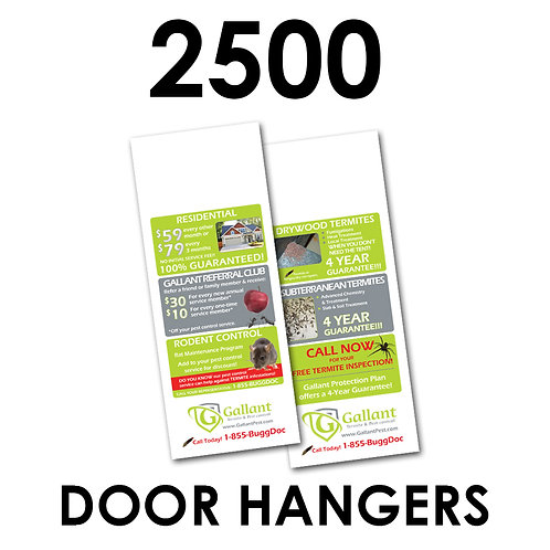"2500 2-Sided 4.25x11"" Doorhangers"