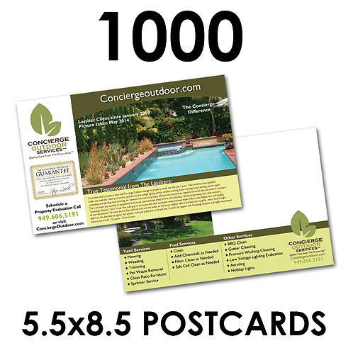 "1000 2-Sided 5.5x8.5"" Postcards"