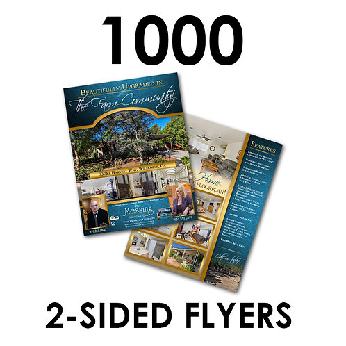 """1000 2-Sided 8.5x11"""" Flyers"""
