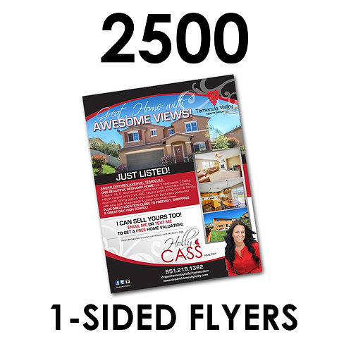 "2500 1-Sided 8.5x11"" Flyers"