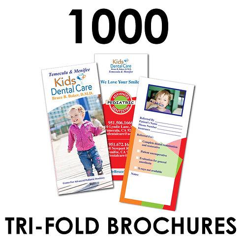1000 Tri-fold Brochures
