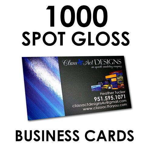 1000 SPOT GLOSS Business Cards