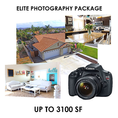 Elite Photography Package: 0 - 3100 sf