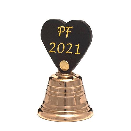 Zvonek malý s koženým držátkem