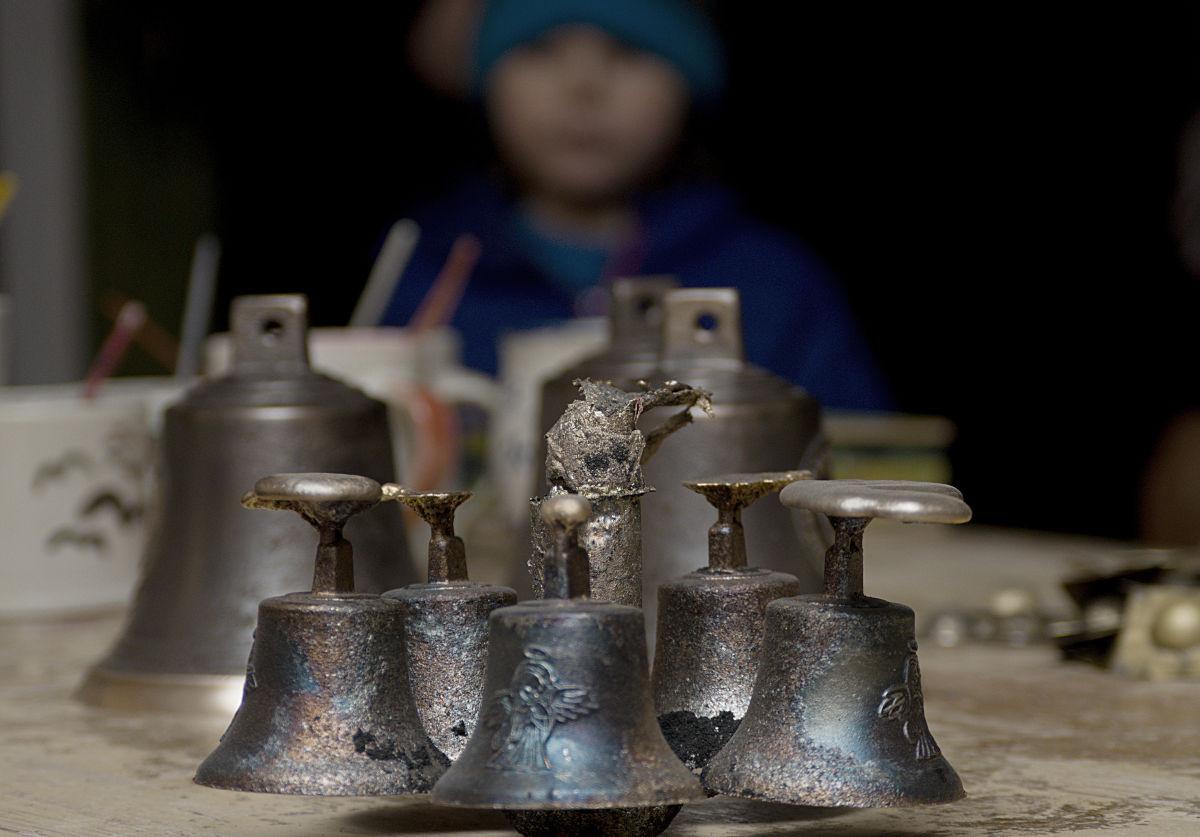 Odlitky bronzových zvonků